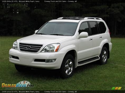 lexus truck 2008 2008 lexus gx 470 blizzard white pearl ivory photo 1
