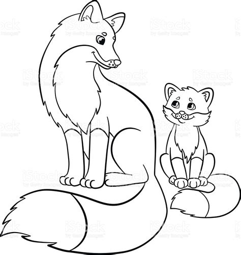 coloring pages wild animals website inspiration baby fox