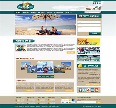 templates for travel website website templates design travel company web template