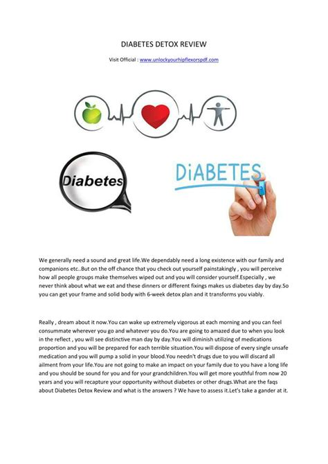 Diabetes Detox by Ppt Diabetes Detox Review Powerpoint Presentation Id