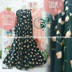 Aminah Syari Setelan Gamis Crepe Busui Umbrella Polos Tebal baju gamis wolfis tulip syar i busana muslim terbaru