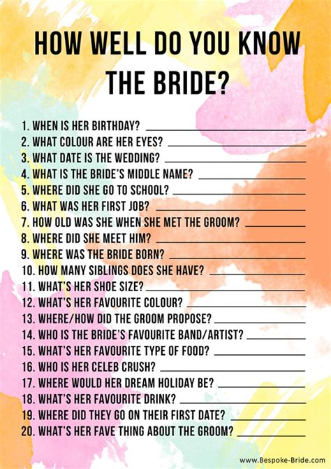 how to know if you look good with short hair free printable how well do you know the bride hen party