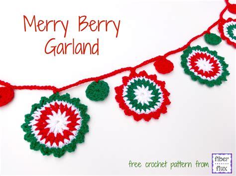 merry garland template free crochet pattern merry berry garland