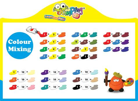 basic colour mixing jumping clay the activity educational franchise learn through play