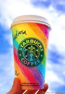 colorful starbucks drinks colorful coffee cup coffee drinks