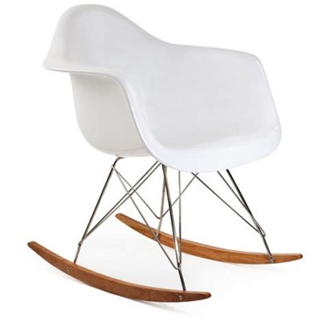 Rocking Chair Legs by Eames Style Rar Molded White Plastic Rocking Chair With Steel Eiffel Legs