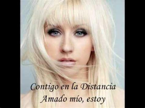 contigo en la distancia b00wsl80w4 christina aguilera contigo en la distancia with lyrics youtube