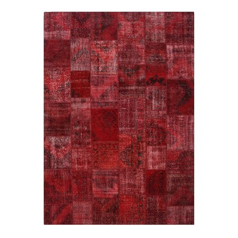 teppiche rot rot vintage patchwork teppich 430x300cm