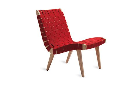 Jens Risom Lounge Chair by Risom Lounge Chair Aubergine Design Within Reach