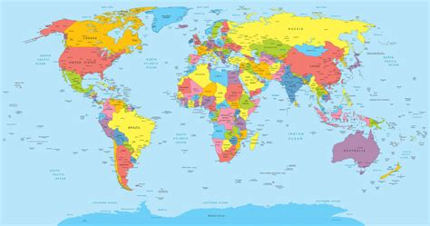world map best world maps ebay
