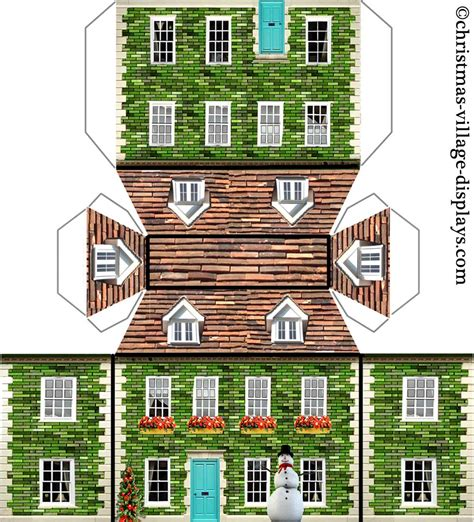 printable tudor house template 6 best images of printable paper house models haunted