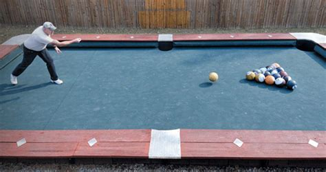 normal pool table size you won t believe this size backyard pool bowling