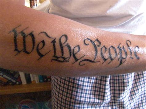 we the people tattoo we the