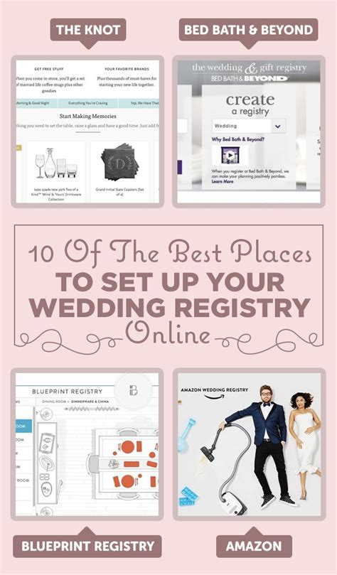wedding registry places 10 of the best places to set up your wedding registry