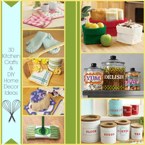 craft ideas for home decoration 30 kitchen crafts and diy home decor ideas favecrafts com