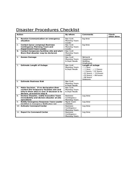 business continuity plan template for small business sle business continuity plan template free