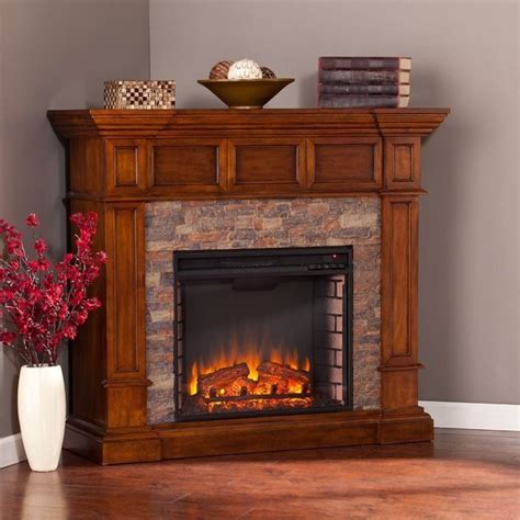 Electric Fireplace Faux by Southern Enterprises Merrimack Faux Electric