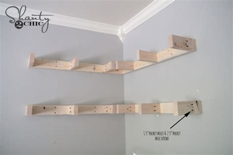 How To Build A Floating Corner Shelf diy floating corner shelves sufey