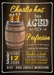 Adult Birthday Invitation Aged To Perfection Whiskey Adult Birthday Party Party Invitations Aged To Perfection Invitation Template Free