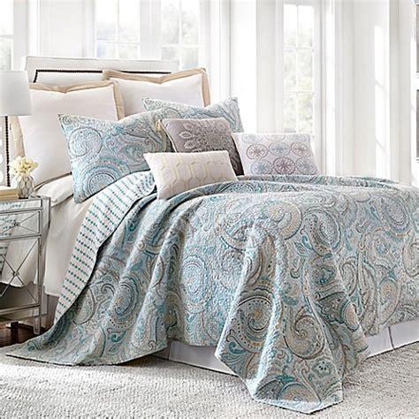 Amelia Set Blue levtex home amelie reversible quilt set in blue bed bath