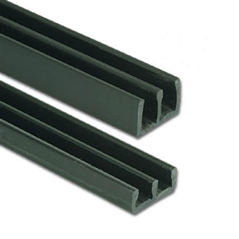 6mm heavy duty plastic sliding track bottom black 2mtr