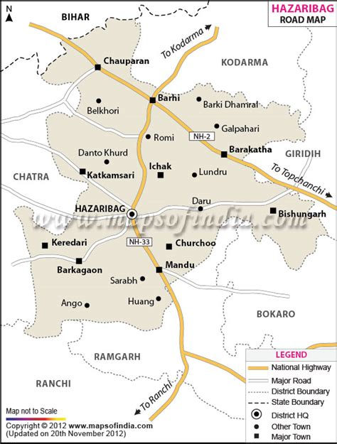 Jharkhand by Hazaribagh Road Map