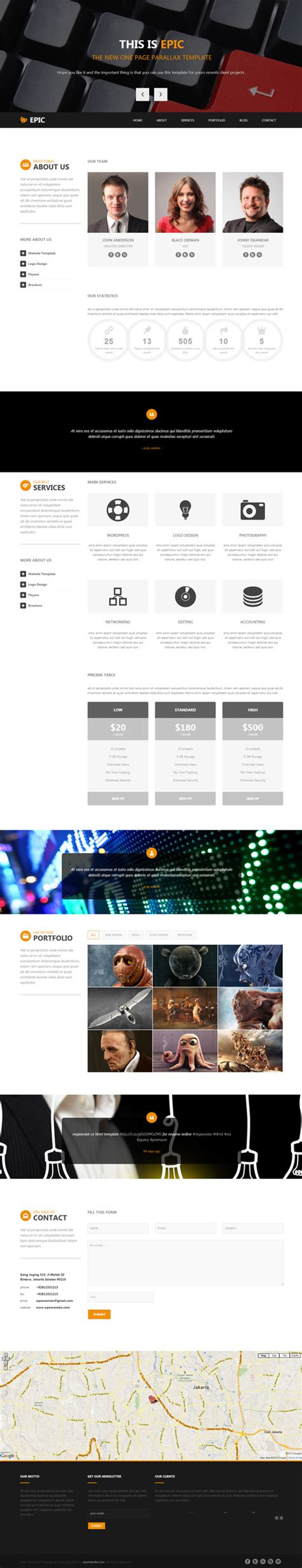 one page parallax html template one page html5 templates html5 css3 design