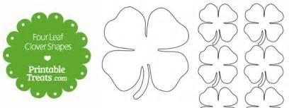 Printable four leaf clover shapes printable treats com