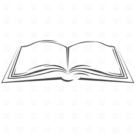 Symbolic open book 870 objects download royalty free vector clipart