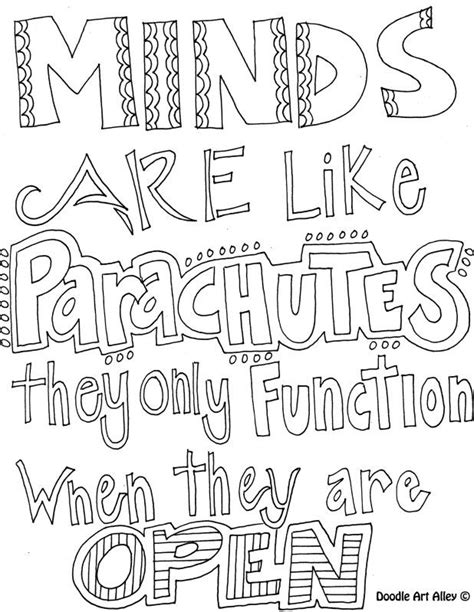 doodle alley quotes coloring pages doodle coloring pages with learning quotes day of