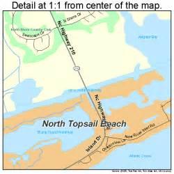 topsail island carolina map topsail carolina map 3747845