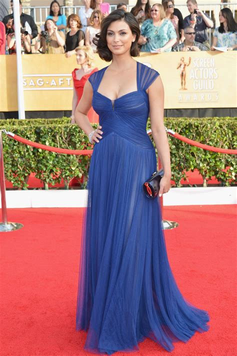Morena Dress morena baccarin wears lhuillier dress at 2014 sag