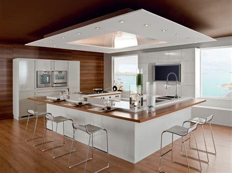 grande cuisine avec ilot central cuisine avec 238 lot central nos inspirations travaux com
