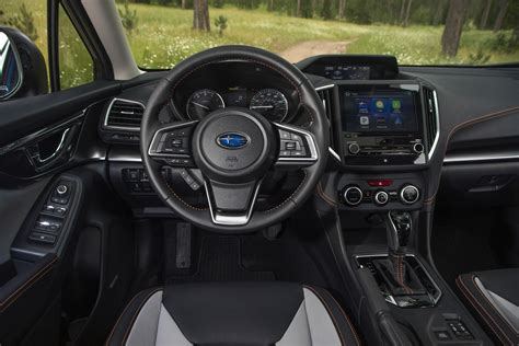 red subaru crosstrek interior 2018 subaru crosstrek review