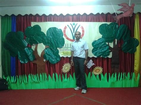 school stage decoration