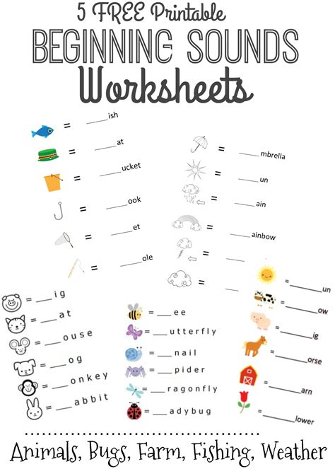 Letter Sounds beginning sounds worksheets www imgkid the image