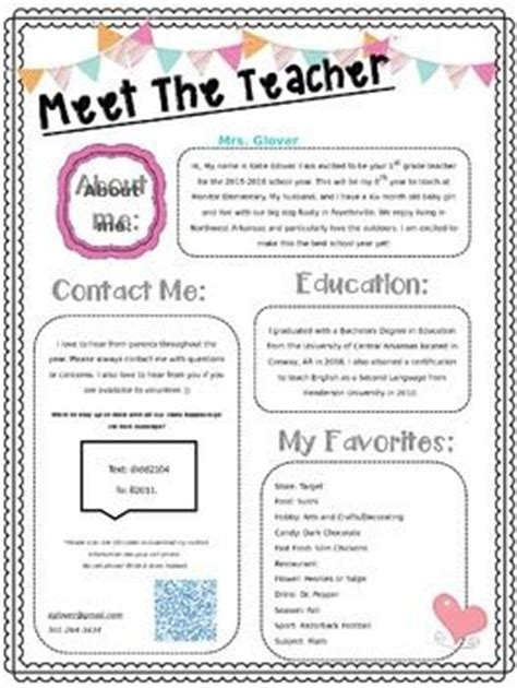 meet the teacher the teacher and teaching on pinterest