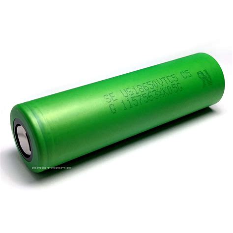 Sony Vtc5 18650 Lithium Ion Cylindrical Battery 37v 2600mah Green 8 5 50 sony vtc5 18650 battery authentic us18650vtc5 orbtronic