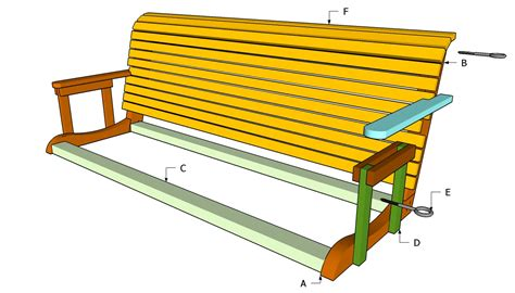 swing bench plans free plans for porch swings diy guide to adirondack