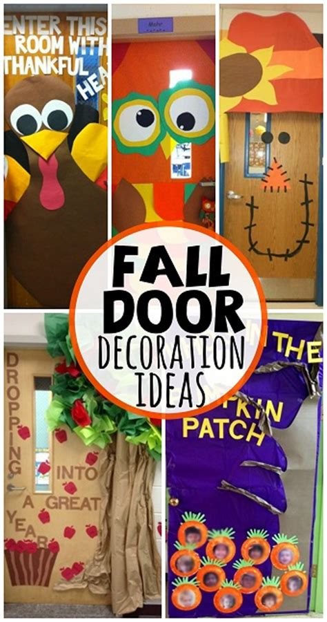 classroom fall door decorations fall door decoration ideas for the classroom crafty morning