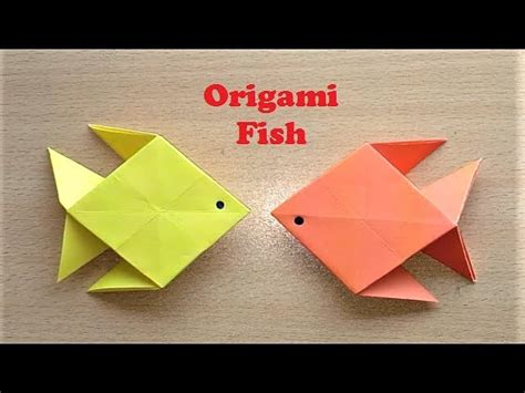Make Paper Fish - how to make origami paper fish easy paper fish my