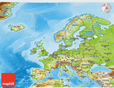 map of europe physical physical 3d map of europe