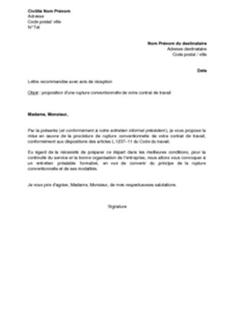 Modèles De Lettre De Rupture De Contrat De Travail Exemple Gratuit De Lettre Proposition Par Employeur Rupture Conventionnelle Contrat Travail Un