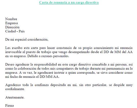 Modelo Cv Directivo Espa A famoso renunciar plantilla ideas colecci 243 n de plantillas