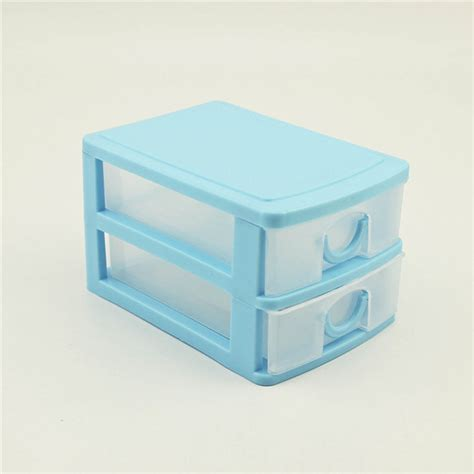 Plastic Storage Box Drawers by 2016 Portable 2 Layer Plastic Storage Drawer Make Up