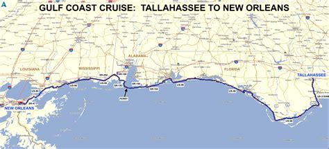 map of florida gulf roadrunner s list roads gulf coast cruise
