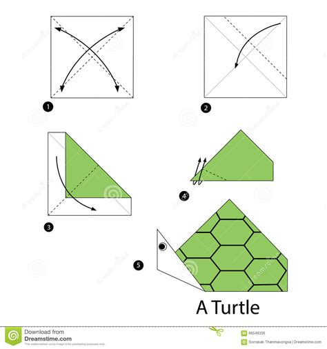 How To Make A Paper Turtle - step by step how to make origami turtle