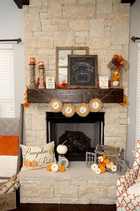 hearth decor fall farmhouse mantel decor easy fall decor ideas