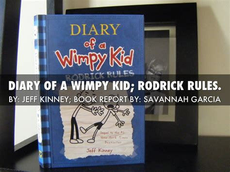 diary of a wimpy kid rodrick book report summary my reading project by sav garcia85