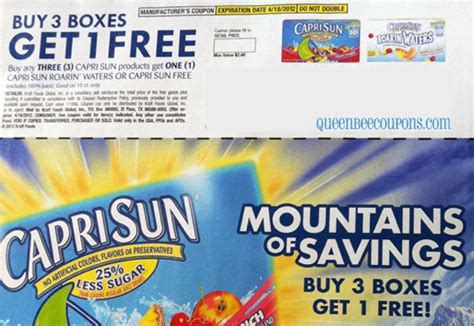 Capri Sun Sweepstakes - queen bee coupons savings daily buzz